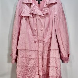 Inc Spring Pink Layered Trench Coat L